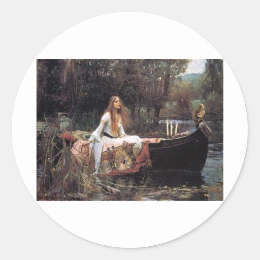 John William Waterhouse Round Sticker