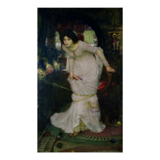 John William Waterhouse - señora del chalote Póster