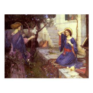John William Waterhouse - The Annunciation Postcard
