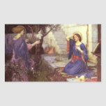 John William Waterhouse - The Annunciation Rectangular Sticker