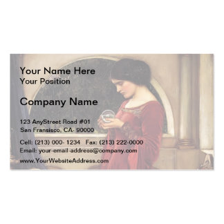 John William Waterhouse- The Crystal Ball Business Cards