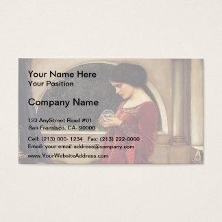 John William Waterhouse- The Crystal Ball Business Card