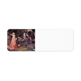 John William Waterhouse- The Enchanted Garden Label