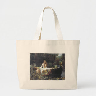 John William Waterhouse The Lady of Shallot 1888 Large Tote Bag