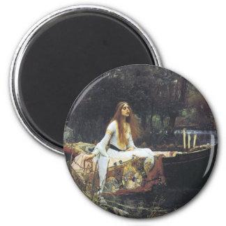 John William Waterhouse The Lady of Shallot 1888 Magnet