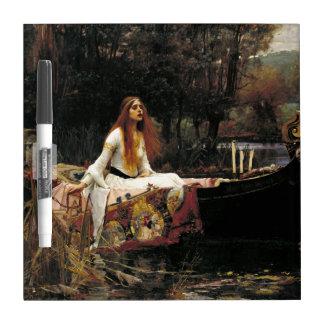 John William Waterhouse The Lady Of Shalott (1888) Dry Erase Board