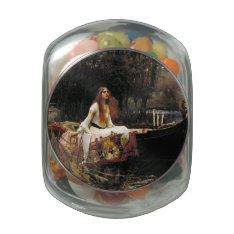 John William Waterhouse The Lady Of Shalott (1888) Glass Jar at Zazzle