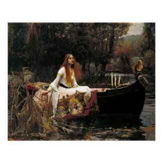 John William Waterhouse The Lady Of Shalott (1888) Poster