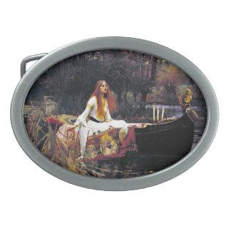 John William Waterhouse The Lady Of Shalott Oval Belt Buckles