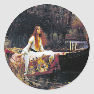 John William Waterhouse The Lady Of Shalott Classic Round Sticker