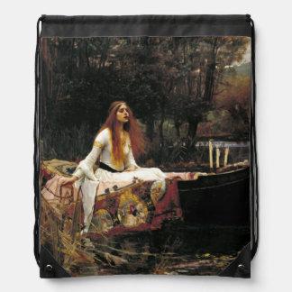 John William Waterhouse The Lady Of Shalott Drawstring Bag