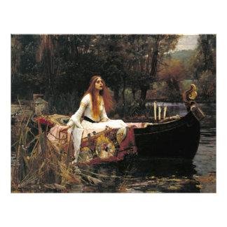 John William Waterhouse The Lady Of Shalott Flyer Design