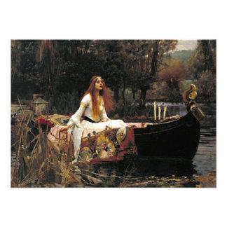John William Waterhouse The Lady Of Shalott Invitation