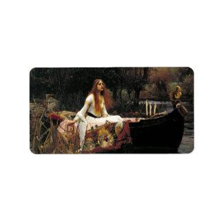 John William Waterhouse The Lady Of Shalott Address Label