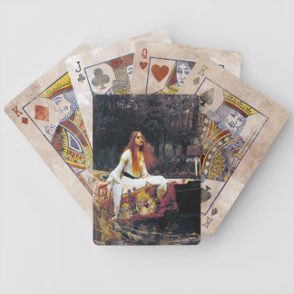 John William Waterhouse The Lady Of Shalott Bicycle Poker Cards