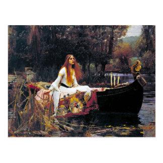John William Waterhouse The Lady Of Shalott Postcard