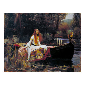 John William Waterhouse The Lady Of Shalott Poster