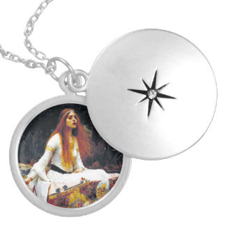John William Waterhouse The Lady Of Shalott Round Locket Necklace