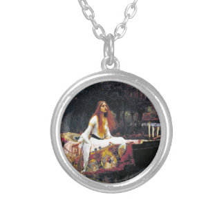 John William Waterhouse The Lady Of Shalott Silver Plated Necklace