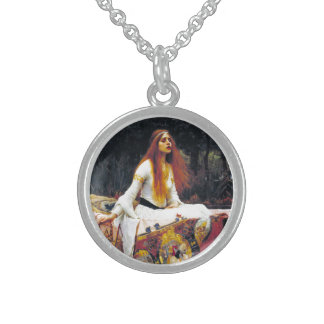 John William Waterhouse The Lady Of Shalott Sterling Silver Necklace