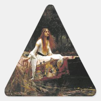 John William Waterhouse The Lady Of Shalott Triangle Sticker