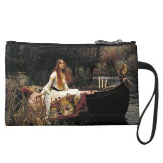 John William Waterhouse The Lady Of Shalott Suede Wristlet Wallet