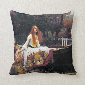 John William Waterhouse The Lady Of Shalott Throw Pillows