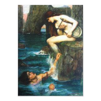 "John William Waterhouse The Siren Invitations 5"" X 7"" Invitation Card"