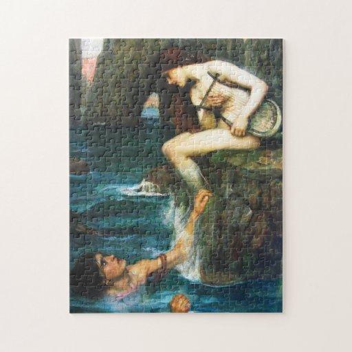 John William Waterhouse The Siren Puzzle