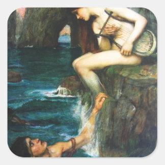 John William Waterhouse The Siren Stickers