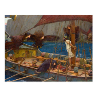 John William Waterhouse - Ulysses and the Sirens Postcard