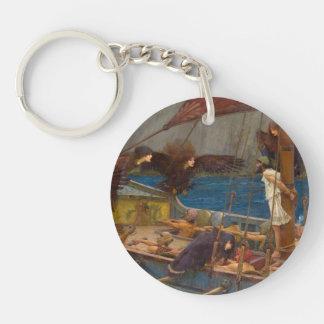 John William Waterhouse - Ulysses and the Sirens Single-Sided Round Acrylic Keychain