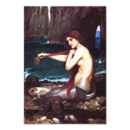 John William Waterhouse Vintage Mermaid Print