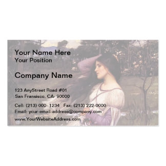 John William Waterhouse- Windflowers Double-Sided Standard Business Cards (Pack Of 100)
