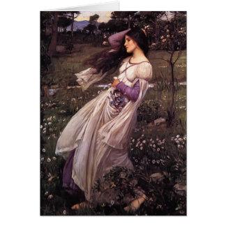 John William Waterhouse- Windflowers Greeting Card