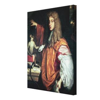 John Wilmot  2nd Earl of Rochester, c.1675 Canvas Print