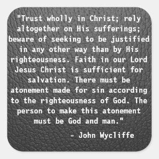 John Wycliffe Quote sticker