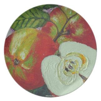 Johnagold rojo Apple platea Plato Para Fiesta