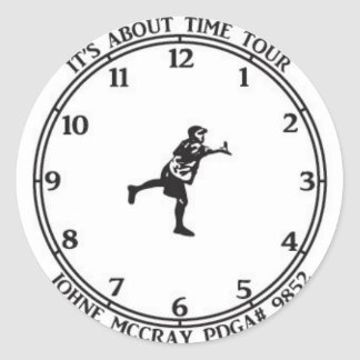 JohnE McCray's It's About Time Tour Classic Round Sticker
