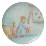 Johnny and fireflies dinner plate