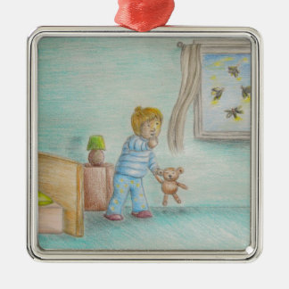 Johnny and fireflies ornament