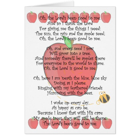 Johnny Appleseed Day September 26 Card