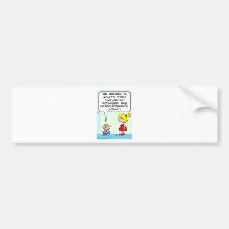 johnny appleseed environmental activist bumper sticker