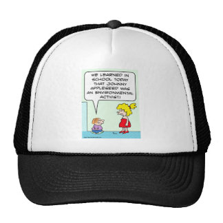 johnny appleseed environmental activist mesh hat