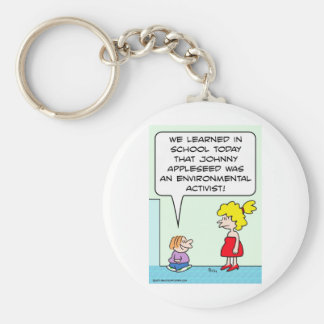 johnny appleseed environmental activist key chains