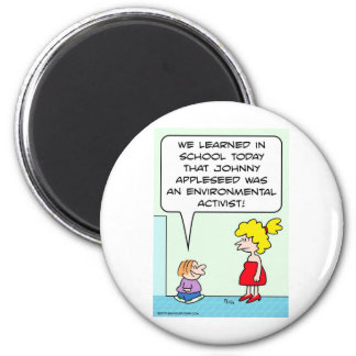 johnny appleseed environmental activist refrigerator magnets
