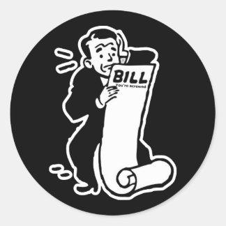 Johnny Auto Big Bill Classic Round Sticker
