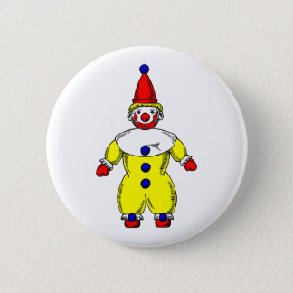 Johnny Automatic Clown Cartoon Button