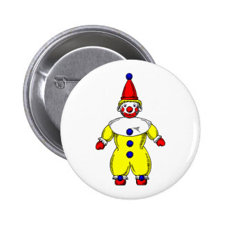 Johnny Automatic Clown Cartoon Pinback Buttons