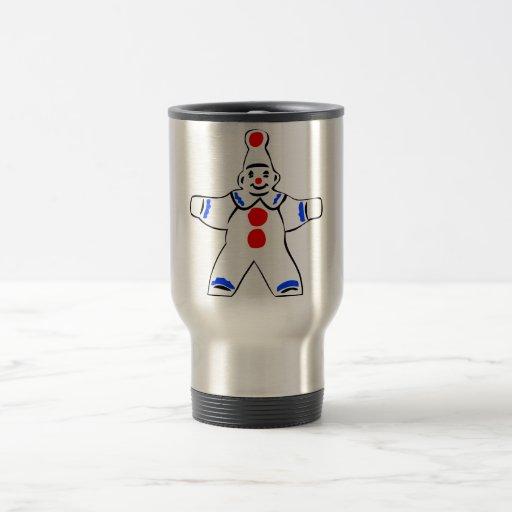 Johnny Automatic Clown Cartoon 15 Oz Stainless Steel Travel Mug